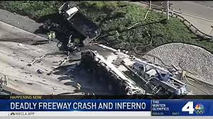 At Least Five Killed in Fiery Crash on 10 Freeway in Rialto - NBC ...