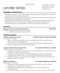 Resume Templates Entry Level Awesome Professional Profile Resume Examples Nursing Template Free Templates