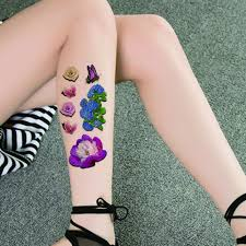 Amazoncom Tafly Sexy 3d Colorful Waterproof Tattoo Stickers