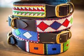 masai beaded leather dog collars 005