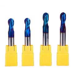 ball nose end mill. blue nano coated ball nose end mills mill