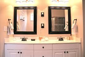 The Bathroom Vanity With Custom Mirror Frame Contemporary Bathroom
