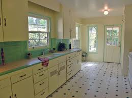 Ceramic Tile For Kitchens Darling Kitchen With Original Honeycomb Tile Countertops Kitschy