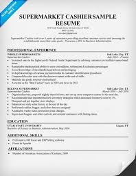 ... Supermarket Cashier Job Description Resume Sample ...