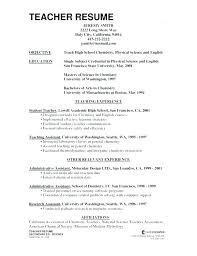 Resume Samples For Teaching Teacher Sample Objective Thekindlecrew Com
