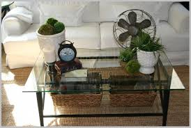 modern glass coffee table decor simple small round table decorating ideas