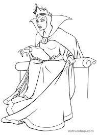 Grimilde La Regina Cattiva Di Biancaneve Disegno Da Colorare