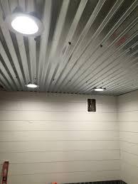 unfinished basement ceiling ideas. Diy Shiplap, Corrugated Sheet Metal Ceiling Unfinished Basement Ideas D