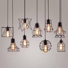 geometrical industrial cage pendant drop light chandelier home furniture on carou
