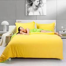 fashion nice bedding two tone yellow and fruit green duvet cover bedding set 4pcs bed