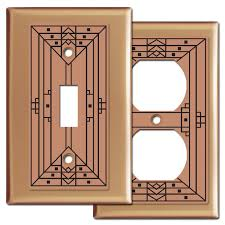 decorative craftsman design copper switch plates copper light switch plates t63