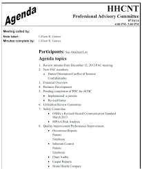 Agenda Meeting Example Adorable Safety Meeting Agenda Template Committee Report Nominating Health