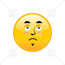 Sad Emoji Isolated Stock Vector Image