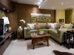 Plain Basement Ideas For Family Room With Brown And Yellow Walls Throughout Impressive