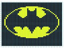 Knitting Charts Free Ravelry Batman Logo Chart Pattern By Elizabeth Thomas