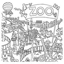 Small Picture Nonsensical Zoo Animal Coloring Pages Tiger Preschool Coloring