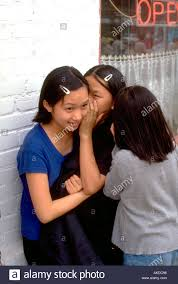 Teen kissing asian teen