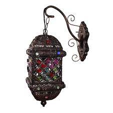 wall sconce ideas beautiful royal hanging wall sconce popular stained glass vintage lamps colors lanterns
