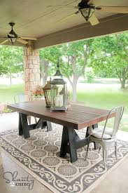 stunning outdoor wood dining table diy table pottery barn inspired shanty 2 chic