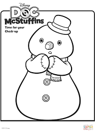 Chilly The Snowman From Doc McStuffins Coloring Page In Mcstuffins ...