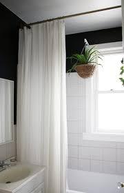 shower curtain ideas. (Source) Clean White Shower Curtain Ideas A