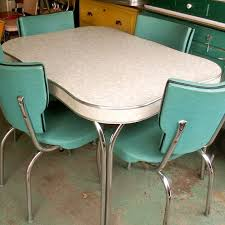 vintage formica chrome kitchen table and chairs