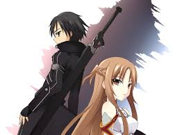 Wallpaper Anime girl and boy, sword ...