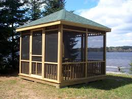 Free gazebo plans - how to build a gazebo, Building the roof of the for
