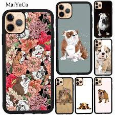 MaiYaCa English Bulldog Case For iPhone 12 Pro Max mini 11 Pro Max XS X XR  SE 2020 6S 7 8 Plus Cover|Phone Case & Covers