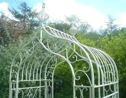 full size of details about white metal garden arch height 9 ft ornate french style full