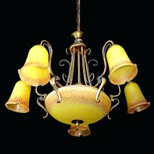 chandeliers art glass chandelier antique large french style art deeply colorful poly chrome yellow art