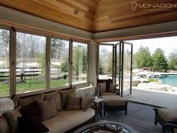 pool house glass walls sliding doors