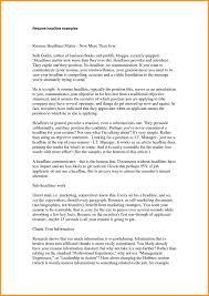 How To Write A Resume Headline Cvresume Title Example Resume Headline Examples Cv Resume 24 21