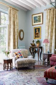 Blue Living Room With Comfortable Armchair  Country Style Living Country Style Living