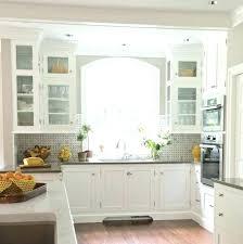 kitchen backsplash window window kitchen bay window seat tall glass front upper cabinet 3 tier fruit