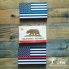 mini california flag wall art hand