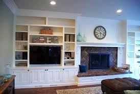 built in tv wall units with fireplace