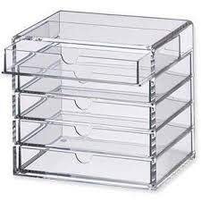muji style high quality transpa acrylic drawer storage box jewelry box fashion style 5 cosmetic debris box drawer cabinet 29 99