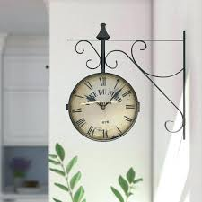 double sided wall clock two round india malaysia double sided wall clock