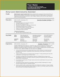 Entry Level Administrative Assistant Cover Letters Administrative Assistant Skills Resume Entry Level