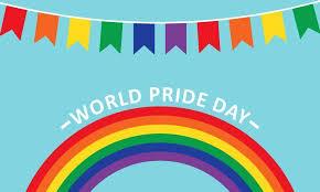 World Pride Day Rainbow Background Logo Graphic By Deemka Studio Creative Fabrica In 2020 Business Card Logo Rainbow Background Pride Day