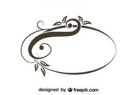 vintage frame design oval. Retro Asymmetrical Oval Swirl Stylish Design Vintage Frame S
