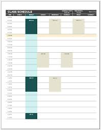 Free Schedule Free Printable Class Schedule Template Templateral
