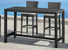 outdoor furniture outdoor furniture bar height unique zuo modern anguilla bar height outdoor table metal