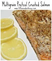 Pretzel Charts Multigrain Pretzel Crusted Salmon