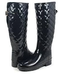 Amazon.com | Hunter Original Refined Tall Quilted Black Gloss Boot ... & Hunter Original Refined Tall Quilted Black Gloss Boot Adamdwight.com