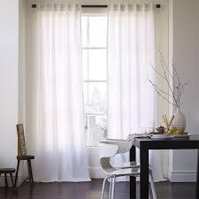 Cotton Canvas Curtain - White   west elm