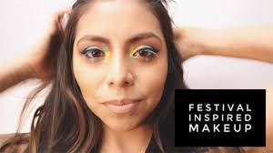 festival makeup tutorials festival inspired makeup tutorial awesome glitter and rhinestone make up ideas