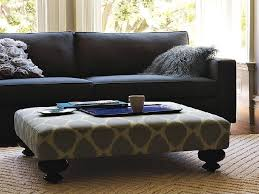 Coffee Table, Upholstered Ottoman Coffee Table Cocktail Ottoman: Modern  Living Upholstered Ottoman Coffee Table