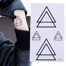 стикер татуировки геометрические временные татуировки треугольник татуировки